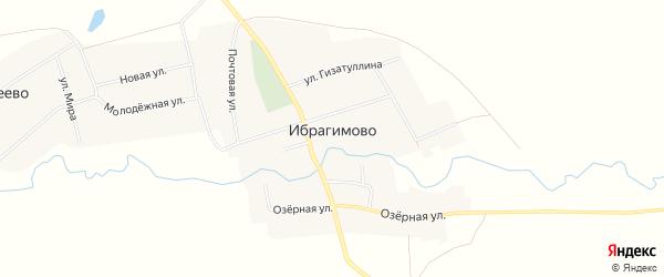 Карта села Ибрагимово в Башкортостане с улицами и номерами домов