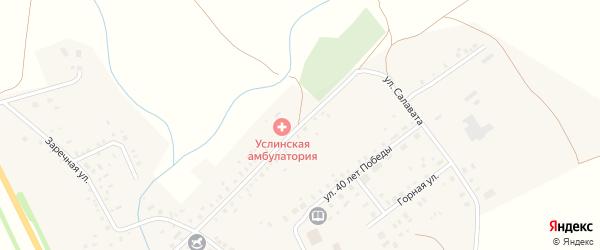 Улица Салавата на карте села Верхние Услы с номерами домов