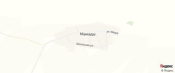 Карта деревни Мамады в Башкортостане с улицами и номерами домов