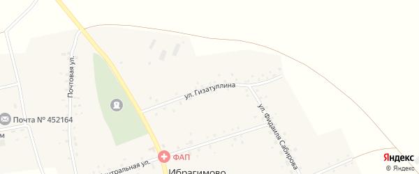 Улица Гизатуллина на карте села Ибрагимово с номерами домов