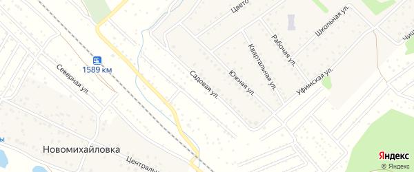 Садовая улица на карте деревни Новомихайловки с номерами домов
