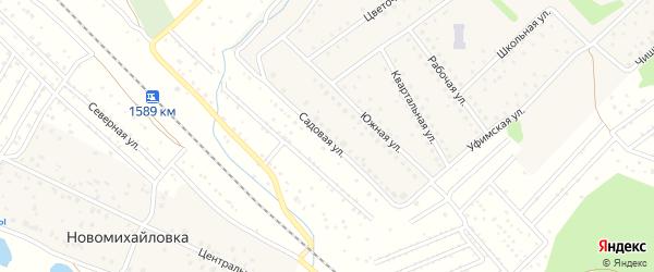 Садовая улица на карте села Санатория Алкино с номерами домов