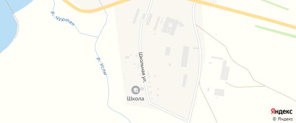 Школьная улица на карте села Верхние Услы с номерами домов