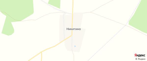 Карта деревни Никитино в Башкортостане с улицами и номерами домов