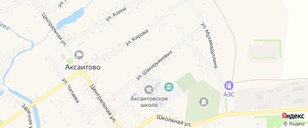 Улица Шакирьяновых на карте села Аксаитово с номерами домов