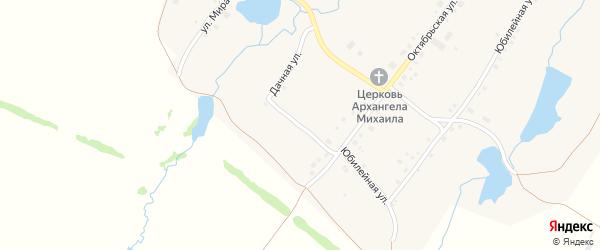 Дачная улица на карте села Николаевки с номерами домов