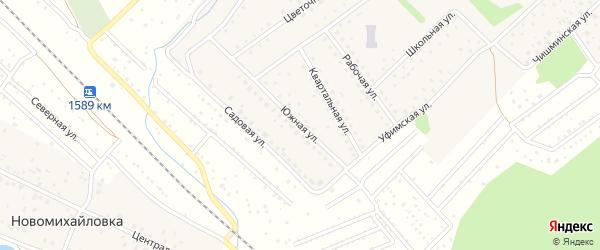 Южная улица на карте села Санатория Алкино с номерами домов