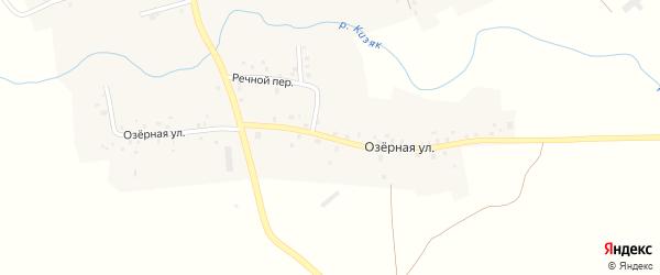 Озерная улица на карте села Ибрагимово с номерами домов