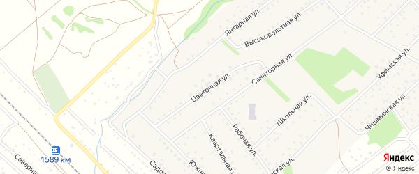 Цветочная улица на карте села Санатория Алкино с номерами домов