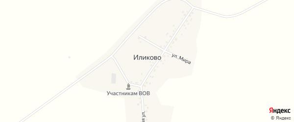 Улица Мира на карте деревни Иликово с номерами домов