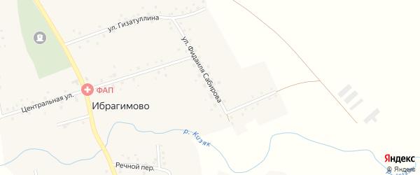 Улица Фидаиля Сабирова на карте села Ибрагимово с номерами домов