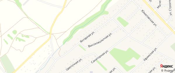Янтарная улица на карте села Санатория Алкино с номерами домов