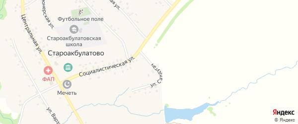Улица Сандугач на карте села Староакбулатово с номерами домов