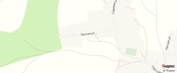 Лесная улица на карте деревни Боголюбовки с номерами домов