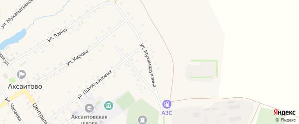 Улица Мухамадуллина на карте села Аксаитово с номерами домов
