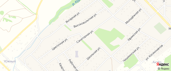 Санаторная улица на карте села Санатория Алкино с номерами домов