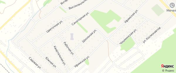 Школьная улица на карте села Санатория Алкино с номерами домов