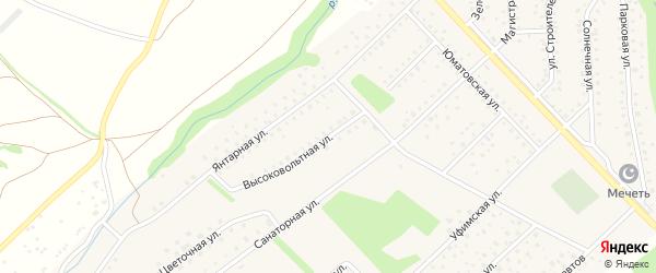 Высоковольтная улица на карте села Санатория Алкино с номерами домов