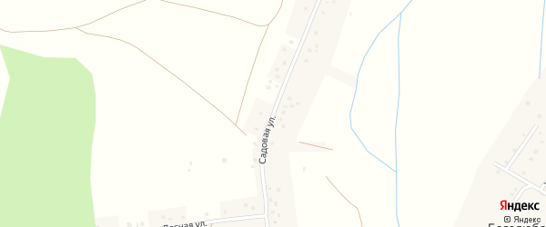 Садовая улица на карте деревни Боголюбовки с номерами домов