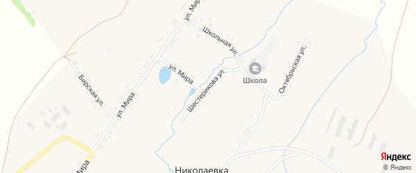 Улица Шестерикова на карте села Николаевки с номерами домов