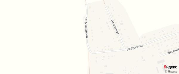 Улица Маннанова на карте Октябрьского села с номерами домов