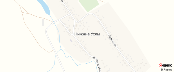 Горная улица на карте села Нижние Услы с номерами домов