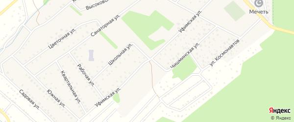 Уфимская улица на карте села Санатория Алкино с номерами домов