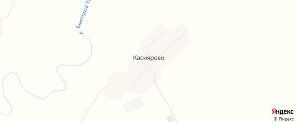 Карта деревни Касиярово в Башкортостане с улицами и номерами домов