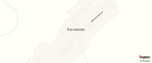 Озерная улица на карте деревни Касиярово с номерами домов
