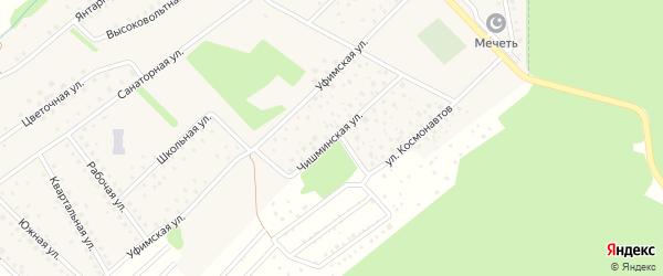 Чишминская улица на карте села Санатория Алкино с номерами домов