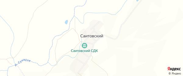 Карта деревни Саитовского в Башкортостане с улицами и номерами домов