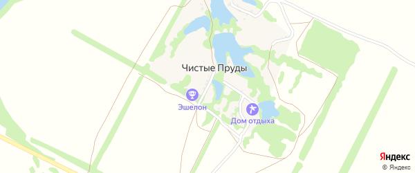 Садовая улица на карте хутора Чистые Пруды с номерами домов