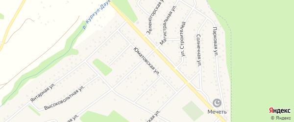 Юматовская улица на карте села Санатория Алкино с номерами домов