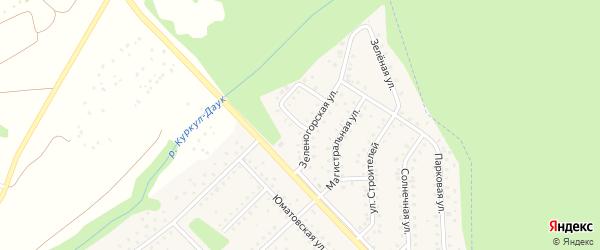 Северный переулок на карте села Санатория Алкино с номерами домов