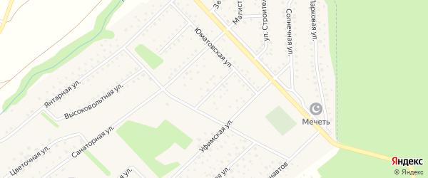 Молодежная улица на карте села Санатория Алкино с номерами домов