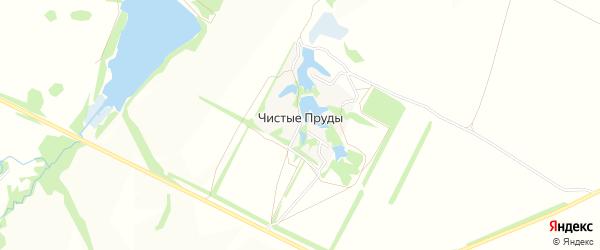 Карта хутора Чистые Пруды в Башкортостане с улицами и номерами домов