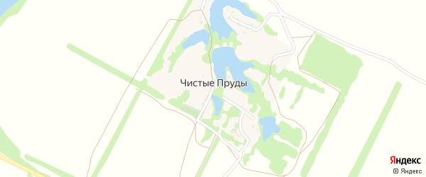 Осиновая улица на карте хутора Чистые Пруды с номерами домов
