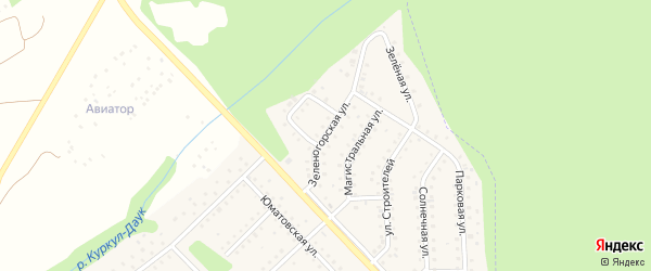 Зеленогорская улица на карте села Санатория Алкино с номерами домов