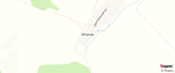 Карта деревни Игенче в Башкортостане с улицами и номерами домов