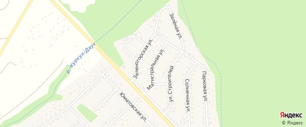Магистральная улица на карте села Санатория Алкино с номерами домов