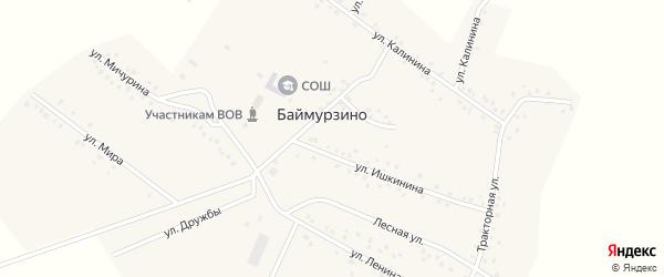 Улица Ленина на карте деревни Баймурзино с номерами домов