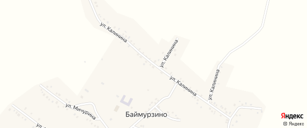 Улица Калинина на карте деревни Баймурзино с номерами домов