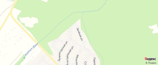 Зеленая улица на карте села Санатория Алкино с номерами домов
