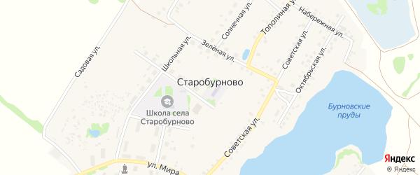 Архитектурная улица на карте села Старобурново с номерами домов