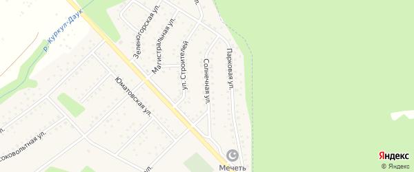 Солнечная улица на карте села Санатория Алкино с номерами домов