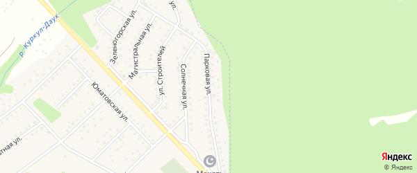 Парковая улица на карте села Санатория Алкино с номерами домов