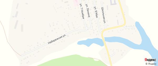 Набережная улица на карте Октябрьского села с номерами домов