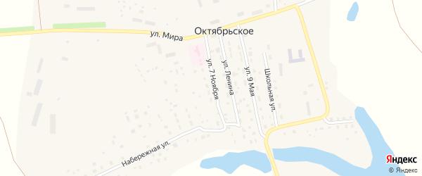 Улица 7 Ноября на карте Октябрьского села с номерами домов