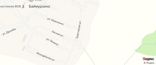 Тракторная улица на карте деревни Баймурзино с номерами домов