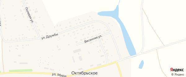 Весенняя улица на карте Октябрьского села с номерами домов